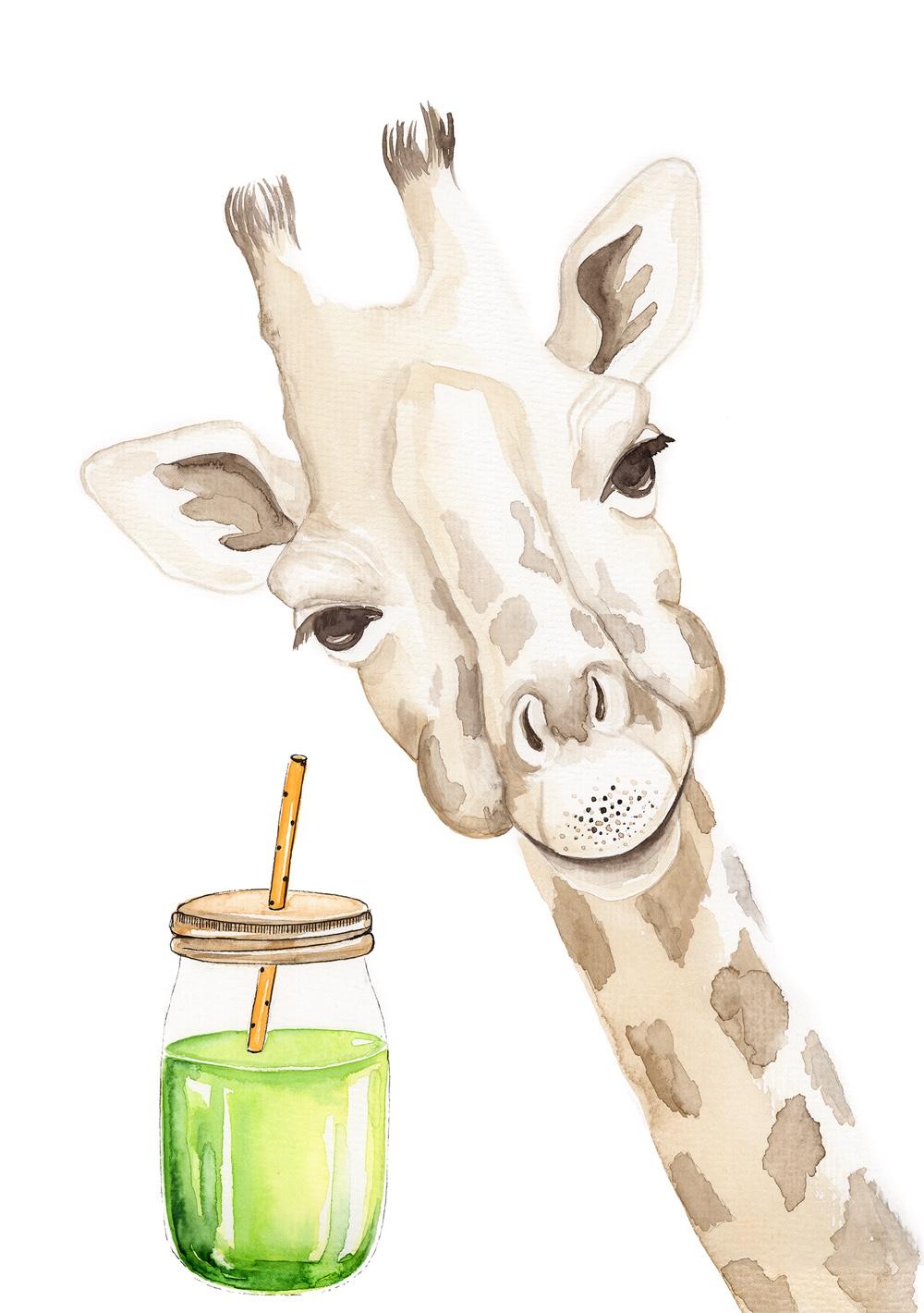 Giraffe_Green_A4